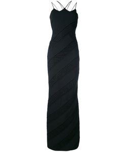 David Koma   Strappy Diagonal Panel Gown