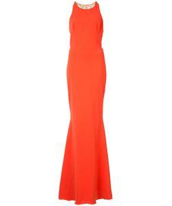 Marchesa Notte | Платье С Украшением Из Бусин На Спине
