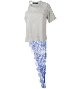Filles A Papa | Penny One Shoulder Lace Panel T-Shirt