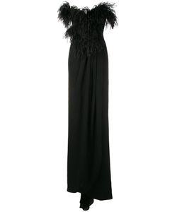 Djaba Diassamidze | Feather Embellished Gown