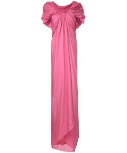 Paule Ka | Long Draped Woven Dress