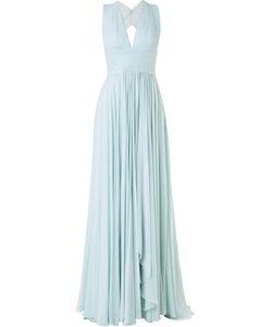 Zuhair Murad   Плиссированное Вечернее Платье С Вырезом