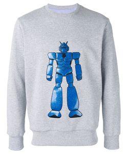 Lc23   Embroidered Robot Sweatshirt M