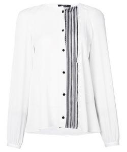 Derek Lam | Рубашка Без Воротника Со Смещенной Оборкой