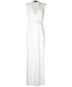 Paule Ka   Sleeveless Woven Wrap Dress