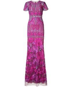 Marchesa Notte | Print Maxi Dress 6 Nylon