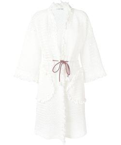 Tsumori Chisato | Fringed Open Knit Cardigan Coat Size Medium