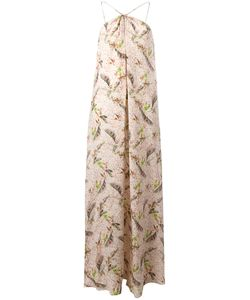 Cacharel | Feather Print Long Dress 38