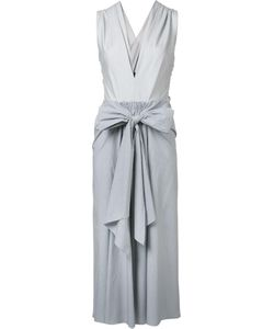 TOME | Платье Thin Stripe Bow Front