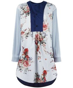 Antonio Marras | Contrast-Bib Shirt Dress 40 Cotton/Polyamide/Spandex/Elastane