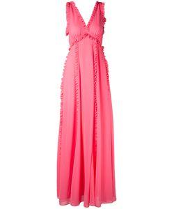 MSGM | Длинное Платье С Рюшами