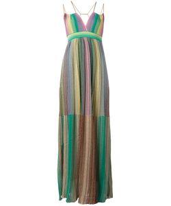 Missoni | M Pleated Maxi Dress Size 40 Polyamide/Polyester/Viscose/