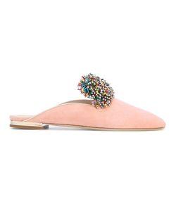 Elie Saab | Embellished Pom Pom Slippers