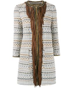 BAZAR DELUXE | Fringed Trim Coat Size 44