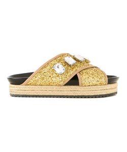 Muveil | Embellished Platform Sandals Size 37