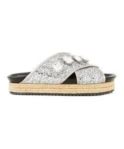 Muveil | Embellished Platform Sandals 38