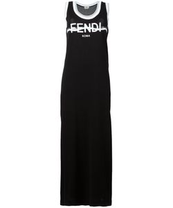 Fendi | Logo Maxi Dress 40 Cotton