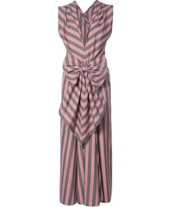 TOME | Wide Stripe Bow Front Dress 4 Cotton