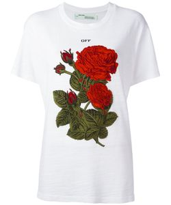 OFF-WHITE | Roses Embroidery T-Shirt Xxs Cotton