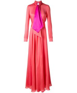 Lanvin | Tied Neckline Maxi Dress 44 Silk