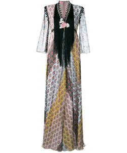 GIAMBA   Fringed Maxi Dress