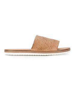 Casadei   Woven Slider Sandals 40