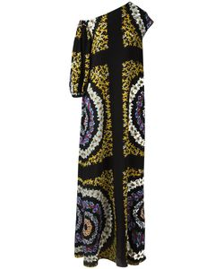 MSGM | Print Asymmetric Dress 42 Silk