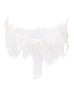SARA ROKA | Fur Trim Bow Belt