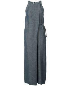 ROSETTA GETTY   Draped Front Jumpsuit 4 Cupro/Cotton/Linen/Flax/Nylon