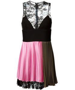 Fausto Puglisi | Плиссированное Платье С Кружевной Панелью