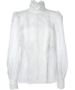 Dolce & Gabbana | Блузка С Кружевной Отделкой