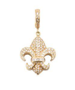 LOREE RODKIN | Small Fleur-De-Lis Diamond Pendant