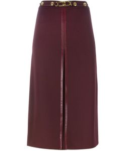 LOUIS FERAUD VINTAGE | Belted A-Line Skirt