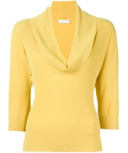 PRADA VINTAGE   Cowl Neck Ribbed Sweater