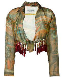 Dolce & Gabbana | Укороченная Блузка С Абстрактным Принтом
