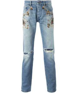 Dolce & Gabbana | Декорированные Джинсы С Потертой Отделкой