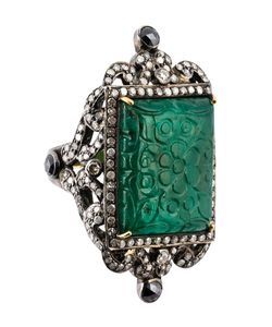 GEMCO | Emerald And Diamond Cocktail Ring