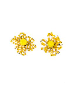 CHRISTIAN LACROIX VINTAGE | Pearl Flower Earrings