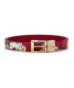 Dolce & Gabbana   Ремень С Принтом Маков И Маргариток