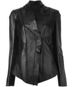 10Sei0Otto | Приталенная Кожаная Куртка