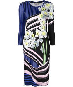 Mary Katrantzou | Трикотажное Платье С Цветочным Принтом