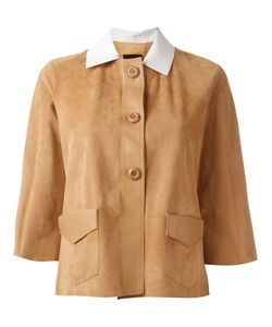 Blancha   Contrasting Collar Jacket