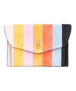 Hayward | Striped Clutch Calf Suede