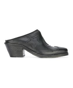 Mcq Alexander Mcqueen   Star Patch Mules 36 Leather