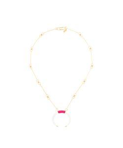 Aurelie Bidermann | Caftan Moon Necklace Women Cotton/Acetate Plated