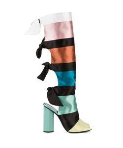 Marco De Vincenzo | Colour Block Ribbon Boots