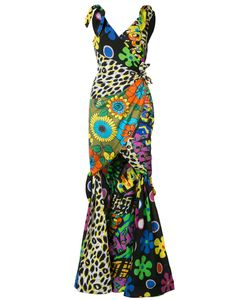 Moschino | Mixed Print Fishtail Gown Size 44