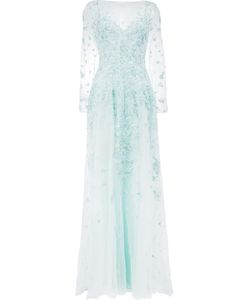 Zuhair Murad | Sequin Embroidery Gown 42 Silk/Polyamide