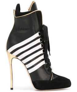 Dsquared2 | Stripe Panel Heeled Boots