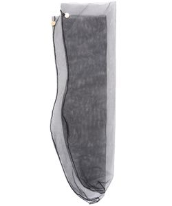 Muveil | Sheer Logo Plaque Socks